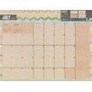 TFPublishing 2016 Kraft Academic July-June Desk Blotter Calendar