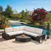 Home Loft Concepts San Lorenzo Outdoor 6 Piece Lounge Seating Group with Cushions