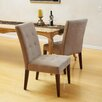 Home Loft Concepts Talib Tufted Leather Dining Chair (Set of 2)