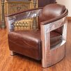 Home Loft Concepts Weatherson Leather and Metal Club Chair
