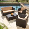 Home Loft Concepts Niguel 4 Piece Seating Group with Cushions