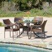 Home Loft Concepts Leila 5 Piece Outdoor Dining Set