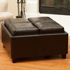 Home Loft Concepts Melnick Tray Top Storage Ottoman
