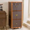 Home Loft Concepts Brisco Rolling Bar Cabinet with Wine Storage