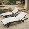 Home Loft Concepts Rio Vista 3 Piece Chaise Lounge Set with Cushion