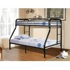 Hazelwood Home Twin Over Full Bunk Bed