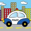 Green Frog Police Gallery Wrapped Canvas Art