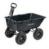 Gorilla Carts Heavy Duty Garden Poly Dump Cart with 2-in-1 Convertible Handle