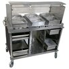 Cadco Mobile Hot / Cold Buffet Cart with Sneeze Guard