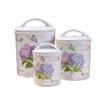 Shall Housewares International 3-Piece Hydrangea Melamine Canister Set