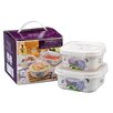 Shall Housewares International 2 Piece Hydrangea Melamine Storage Container Set