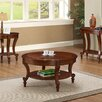 Three Posts Curved Brown Coffee Table Set
