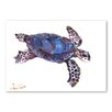 Americanflat Tortoise Dark Blue by Suren Nersisyan Art Print