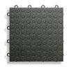 "BlockTile 12"" x 12""  Garage Flooring Tile in Black"