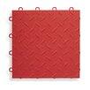 "BlockTile 12"" x 12""  Garage Flooring Tile in Red"
