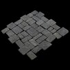 Pebble Tile Blocks Random Sized Natural Stone Mosaic Tile in Black