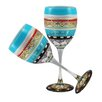 Golden Hill Studio Mosaic Carnival Wine Glass (Set of 2)