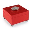 John Richard Coral Box with Stone Accent