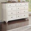 Homelegance Floresville 11 Drawer Dresser with Mirror
