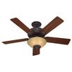 """Hunter Fans 52"""" Westover® 5 Blade Ceiling Fan with Remote"""