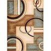 Well Woven Barclay Modern Blue Arcs & Shapes Area Rug