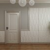 "threeDwall 31.4' x 24.6"" Paintable Brick Embossed 3 Pieces Panel Wallpaper (Set of 3)"