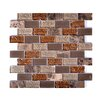Instant Mosaic Upscale Designs Random Sized Porcelain, Natural Stone, Metal, Glass, Ceramic Mosaic Tile in Taupe and Brown