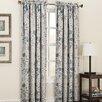 Sun Zero Auburn Room Darkening Floral Print Single Curtain Panel