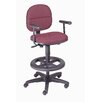 Nexel Adjustible Drafting Chair with Fixed T-Arms