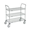 Nexel 3 Shelf Utility Cart with Pneumatic Casters