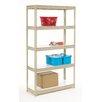 Nexel Melamine Laminate Rivet Lock 4 Shelf Shelving Unit