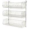 Nexel Wall Mount Basket 3 Shelf Shelving Unit