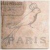 Elizabeth Lucas Company Paris Bird Vintage Advertisement on Canvas