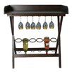 EC World Imports Urban 6 Bottle Tabletop Wine Rack and Portable Bar