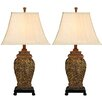"""EC World Imports Urban Palace of Versailles 30"""" H Table Lamp with Bell Shade (Set of 2)"""