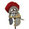EC World Imports Antique Replica Roman Centurion Red Plume Galea Helmet