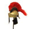 EC World Imports Antique Replica Greco Roman Red Plume Helmet