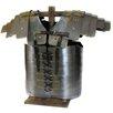 EC World Imports Antique Replica Iron Roman Soldier Lorica Segmenta Chest Plate Armor