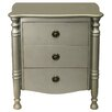 EC World Imports Urban Designs 3-Drawer Solid Wood Chest Cabinet