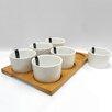 Linen Depot Direct Sandra Venditti 7 Piece Porcelain Appetizer Set