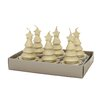 Fantastic Craft Swirling Cone Tree Tea Light Novelty Candle (Set of 6)