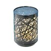 """Fantastic Craft Push Birch 5"""" H Table Lamp with Drum Shade"""
