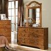 Standard Furniture Hester Heights 6 Drawer Dresser with Mirror