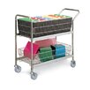 Charnstrom Medium Wire Basket File Cart with Casters