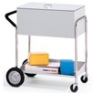 Charnstrom Medium File Cart with Rear Tires and Locking Top