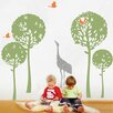Pop Decors Playing Crane in The Tree Garden Wall Decal