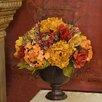 Floral Home Decor Rose and Hydrangea Silk Flower Arrangement
