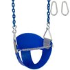 Swing Set Stuff Highback Half Bucket Swing Seat with Coated Chain