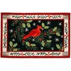 Homefires Christmas Cardinal Rug