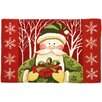 Homefires Homefires Accents Santa In White Forest Mat
